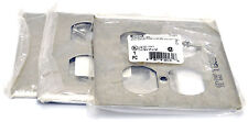 3 Hubbell OUTLET COVER for 2-GANG 2-DUPLEX RECEPTACLE SS82 SS Plate USA New