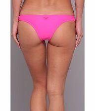 New Roxy Itsy Bitsy Bikini Bottom Women Swimwear Pink Swimsuit Large