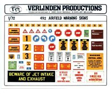 Verlinden Productions 1:72 Modern Airfield Warning Signs Diorama Accessory #492
