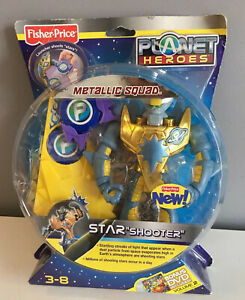 """Fisher Price PLANET HEROES STAR  """"SHOOTER"""" w/ Star Launcher & DVD - NEW FREESHIP"""
