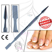 Cuticle NAIL PUSHER SCRAPER Dual MANICURE Tool Nail Art Removal Stainless Steel