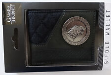 Game Of Thrones House Stark Logo Metal Badge Gift Boxed Bifold Wallet NWT