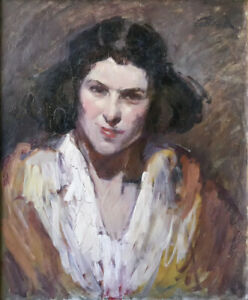 Jeune femme HSP signée Jean Roch COLLON (1894-1951) Wavre Louvain Leuven