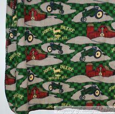 BonEful FABRIC Fleece US Blanket Quilt LARGE Throw 50X60 John Deere Farm Tractor