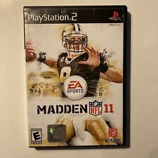 Madden Nfl 11 Ps2 Sony PlayStation 2 Football Video Games Tested Ships Fast
