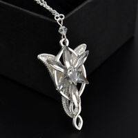 Vintage Stylish ARWEN'S EVENSTAR NECKLACE LORD OF THE RINGS SILVER pendant TR12