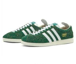 Adidas Originals GAZELLE VINTAGE SHOES Green Deadstock Size 6 BNIB
