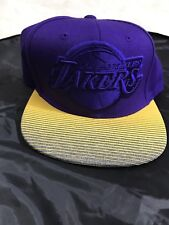 Mitchell & Ness NBA LA Lakers Purple and Yellow Snap Back Hat One size Fits all