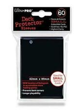 ULTRA PRO Deck Protector Sleeves Small 60ct 62 x 89 Black Yugioh