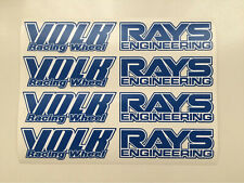 Blue JDM Japan Rays Engineering VOLK Racing TE37 Wheel decals sticker 8pcs