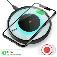 Qi Fast Wireless Charger Charging Pad for Galaxy S20/+/Ultra/iPhone 11/Pro/Max