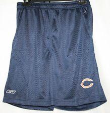 NEW Boys Kids Youth REEBOK Chicago Bears On Field NFL Logo Blue Mesh Shorts