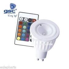 Bombilla GU10 RGB MULTICOLOR de 5W LED con MANDO a DISTANCIA, color Bajo Consumo
