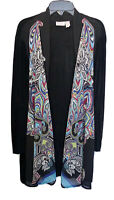 Chicos Travelers Size 4 Cardigan Sweater Size XXL Knit 2X Open Front