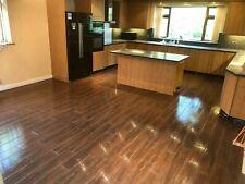 Contemporary Brown Wood effect Matt 15X90cm Kitchen Bathroom Wall Floor Tile