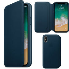 Blue Mobile Phone Flip Cases for iPhone X