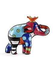Romero Britto Mini/ Miniature 3D Figurine- Elephant With Orange Crown