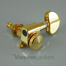 3+3 Vanson Gold LOCKING Tuners, Machine Heads for Les Paul, SG, PRS* V03 SP-GD