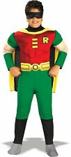 RARE* Teen Titans Robin Deluxe Muscle Chest Boys Costume Small 4/6