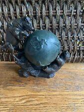 Great Vintage Metal Statue/Sculpture Bear/Globe/Bull Wall Street Bronze AMC