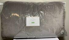 Pottery Barn Full-Queen Velvet Comforter, Gray, New w/ Tags, Free Shipping