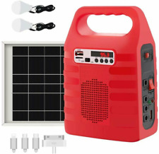 Power Storage Generator Solar Panel LED USB Charger Home Outdoor Lighting System