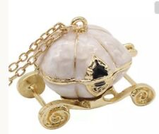 Betsey Johnson Necklace Carriage White Cinderella Princess Pumpkin Crystal