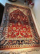 BRAND NEW Wool Oriental Rug - India - Brown/Black/Red - Pheasants Tiger 3' x 2'