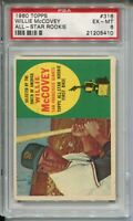 1960 Topps Baseball #316 Willie McCovey Rookie Card RC Graded PSA EX MINT 6
