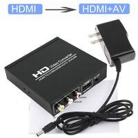 HDMI To HDMI AV RCA CVBS TV HDTV Composite Video Audio Converter Scaler Adapter