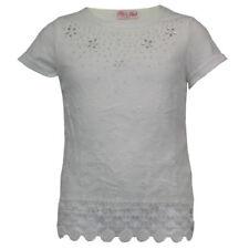 Magliette e maglie bianche a manica 3/4 con girocollo per bambine dai 2 ai 16 anni