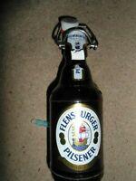 German Flensburger Pillsener beer bottle with stone stopper