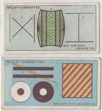 Optical Illusions And Why Eyes Deceive Us TWO 95+  Y/O Ad Trade Cards