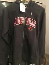 Louisville Cardinals Full Zip Women's Hooded Sweatshirt Size Medium - Nwt
