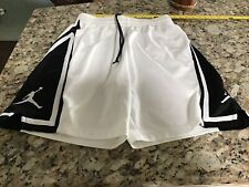 Nike Jordan Boys' Basketball Shorts, Black,-White size Large Euc