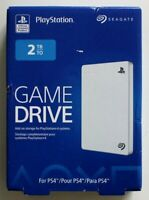 Seagate Game Drive 2TB Portable Add-On Storage For PS4 White - Brand New