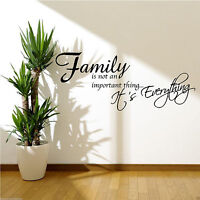 FAMILY IS EVERYTHING Wall Sticker Quote Room Decal Mural Stencil Transfer WSD474