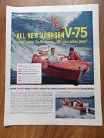 1960 Johnson Boat Motor Boats Ad All New Johnson V-75