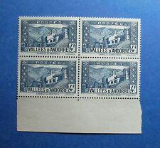 1942 ANDORRA FRENCH 4F SCOTT# 60B MICHEL # 91 UNUSED BLOCK              CS26705A