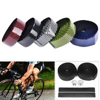 Cycling Road Bike Sports Bicycle Foam Handlebar Wrap Tape With 2 Bar Plugs SD