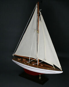 maritimes Segelboot Schiffsmodell ca 35cm Yacht schöne Deko neu wertig