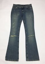 Richmond jeans bootcut zampa donna usato w30 tg 44 destroyed boyfriend T3229