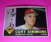 1960 Topps #451 Curt Simmons Philadelphia Phillies NmMt High Grade Sharp!