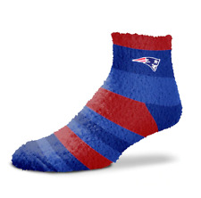 New England Patriots Football Rainbow Stripe Soft Fuzzy Sleep Socks