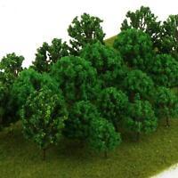 20pcs Plastic Model Trees HO Scale Train Diorama Layout Scene Park Landscape