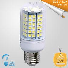 3x E26 / E27 Corn Bulb 96 LED SMD 5050 Cold White 110V - 250V AC - 14W