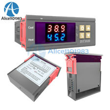 Digital DST1020 AC 110-230V Dual Display Thermostat Temperature Control DS18B20