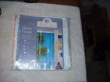 "Jubilee Soft Vinyl Shower Curtain "" Paradise 70x72 Gorgeous!"
