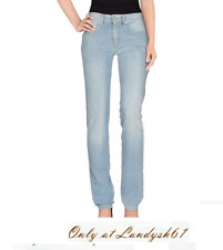 Love Moschino Blue Cotton Women's Casual Italy Jeans  Size EU 33 US 8-9 NEW