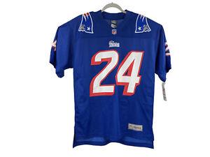 ProLine Men's Size Medium Blue NFL New England Patriots Ty Law Throwback Jersey